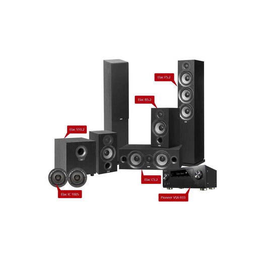 Elac Debut 2.0 - 5.1.2 Home Theatre Speaker Package with Elac IC 1005 In-Ceiling Speaker + Pioneer VSX-933 AV Receiver -  Ooberpad