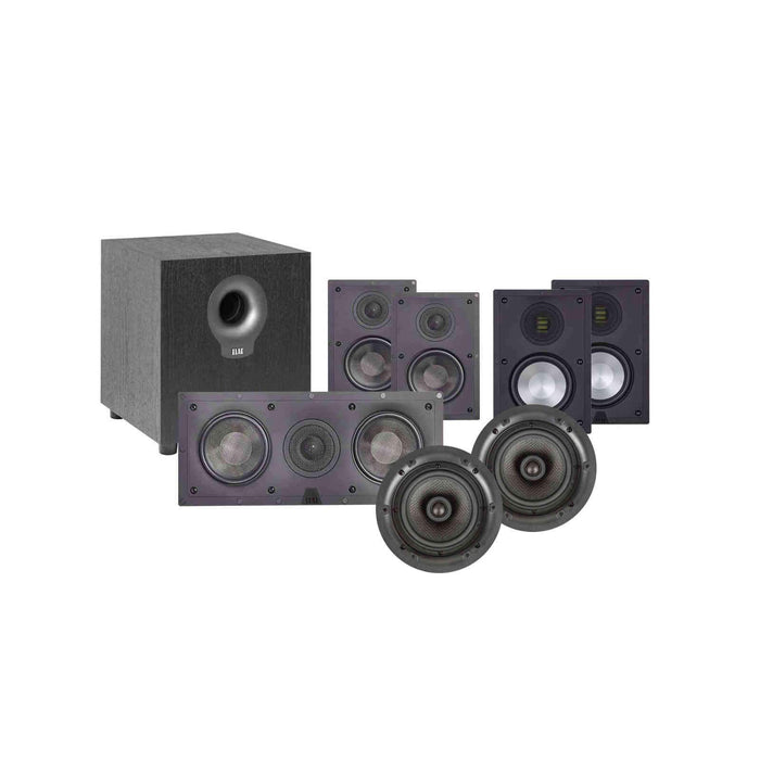 Elac In-Wall 5.1.2 Ch Home Theater Speaker Package 2 with Atmos, Jet 5 tweeters and woofers for 150-250 Sq Ft Room -  Ooberpad