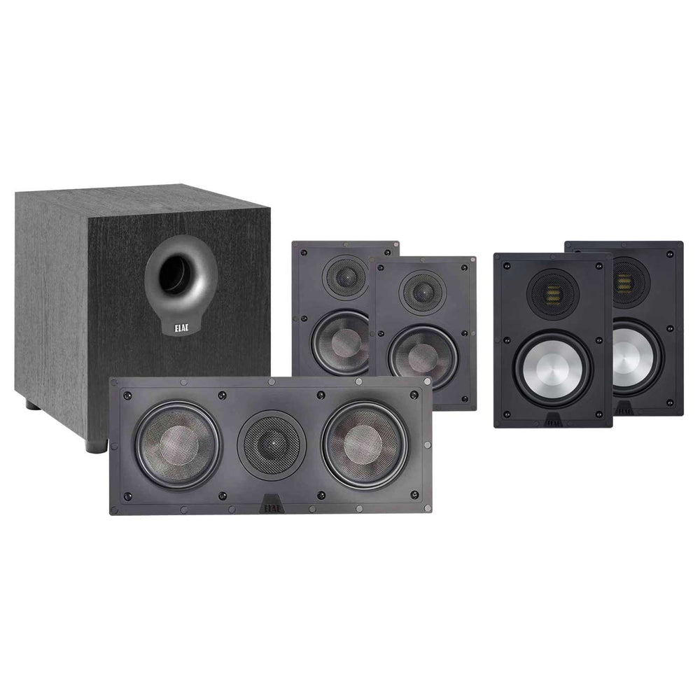 Elac In-Wall 5.1 Ch Home Theater Speaker Package 2 for 150-250 Sq Ft Room -  Ooberpad