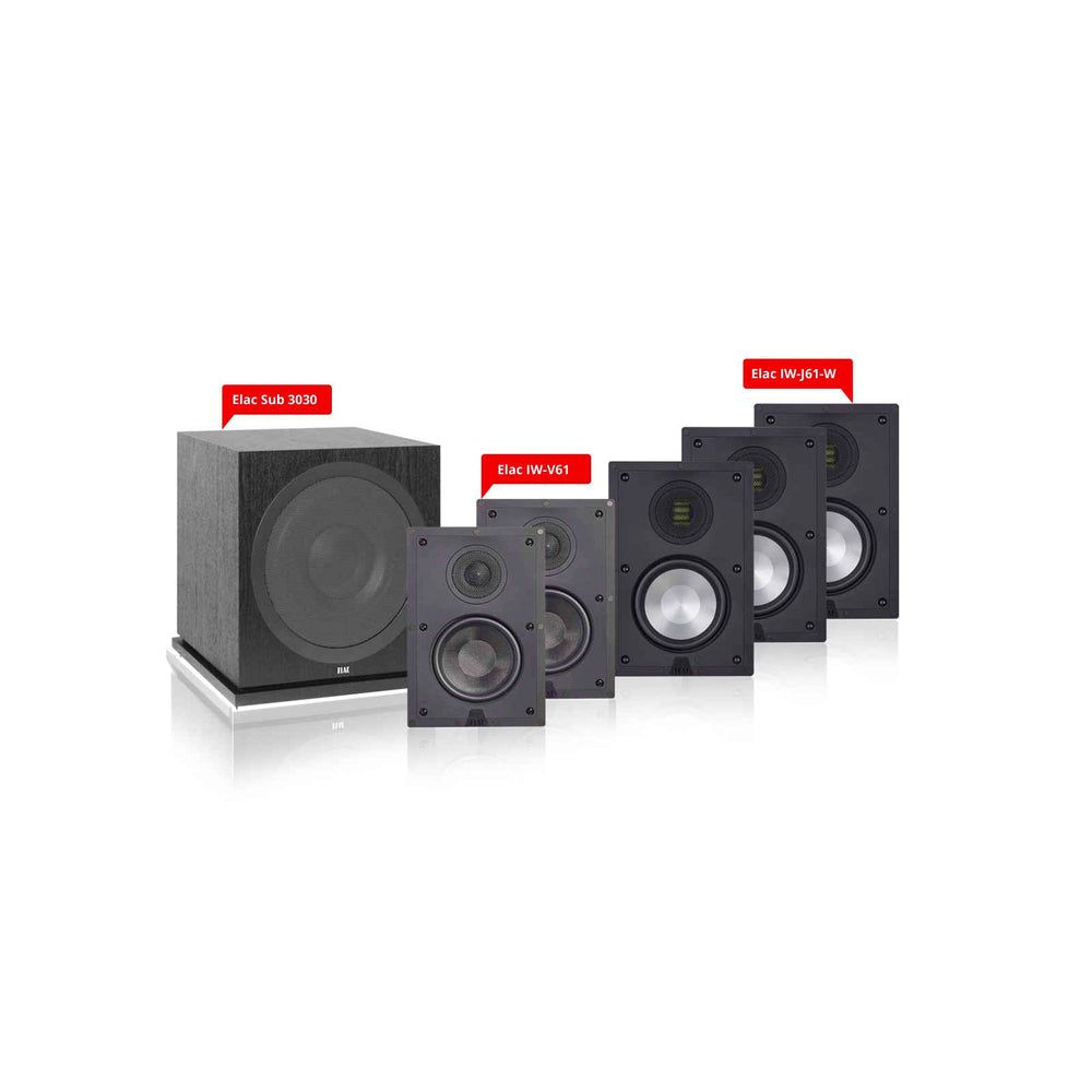 Elac In-Wall 5.1 Ch Home Theater Speaker Package 2 for 250-400 Sq Ft Room -  Ooberpad