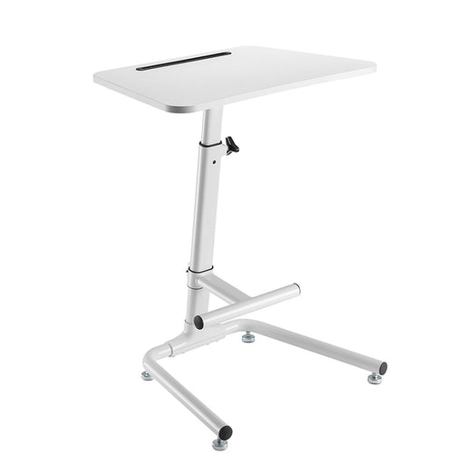 Lumi FWS03-1 Pneumatic On-floor Sit-stand Workstation with Footrest Bar - Ooberpad