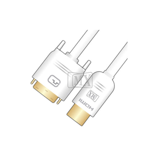 MX DVI-D Dual Link Pin Male TO HDMI Male Cable Patch Cord (3247) -  Ooberpad