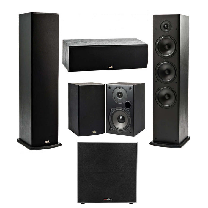 Polk Audio Fusion T- Series 5.1 Channel Home Theater Speaker Package with Polk Audio PSW 10 Subwoofer -  Ooberpad India