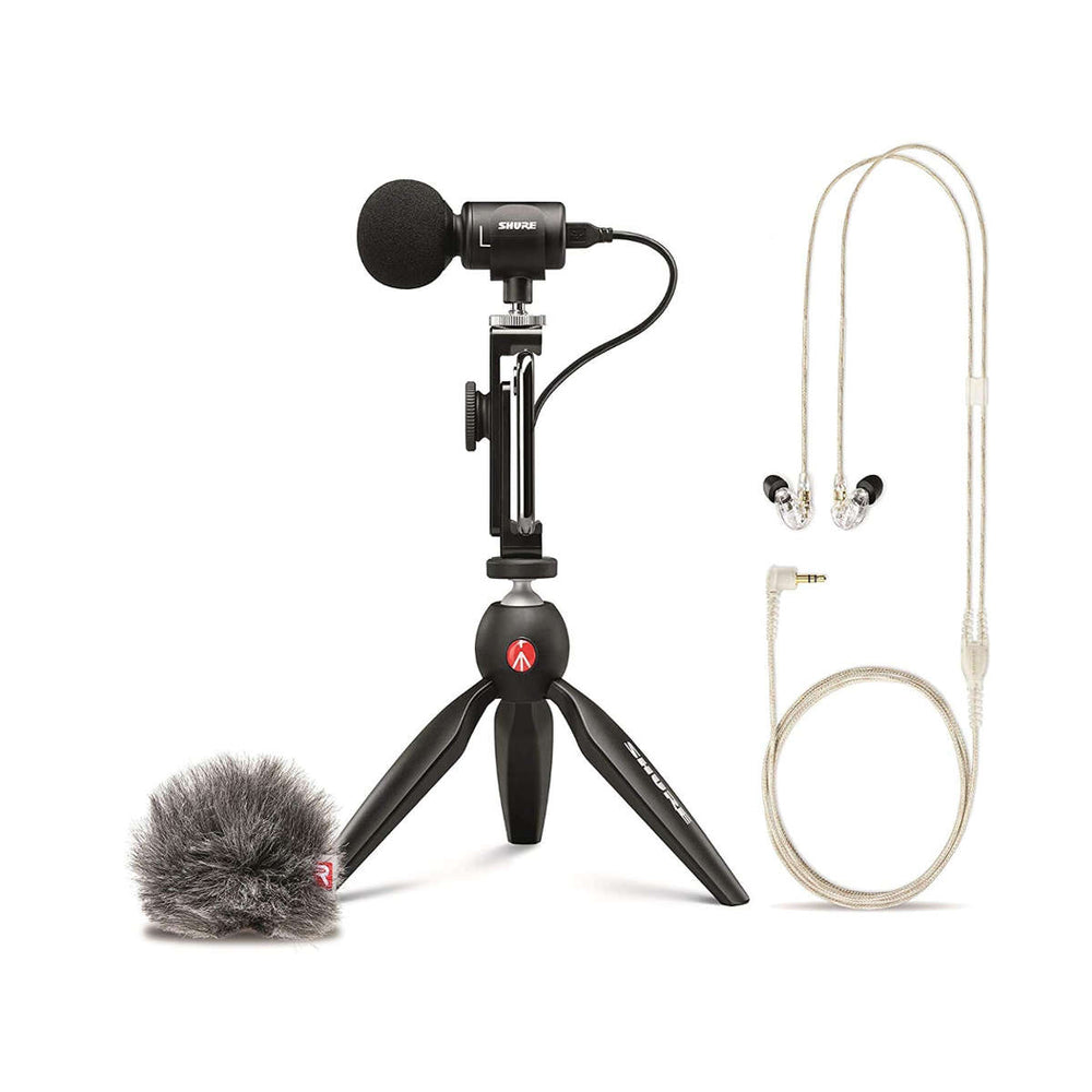 Shure Motiv MV88+ SE215-CL BUNDLE Portable Videography Kit - Ooberpad