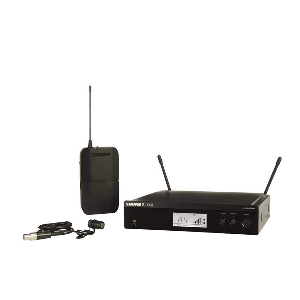 Shure BLX14RIN/W85 Wireless Rack Mount Lavalier system with WL185 Lavalier Microphone -  Ooberpad