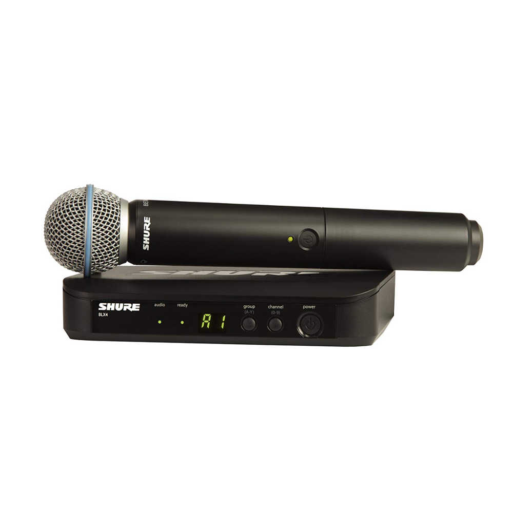 Shure BLX24RIN/B58 Wireless Rack Mount Vocal system with BLX2/BETA58A handheld transmitter -  Ooberpad