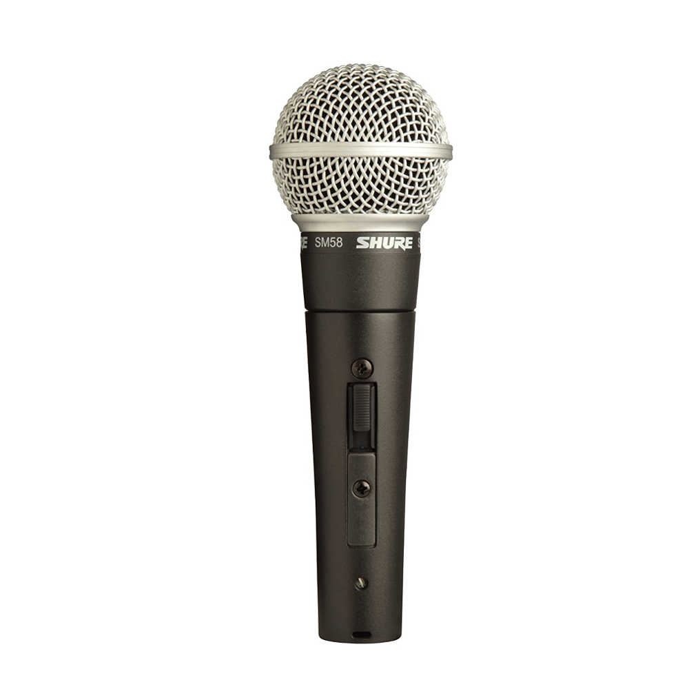 Shure SM58S Cardioid Dynamic Vocal Microphone (with On/Off Switch) -  Ooberpad