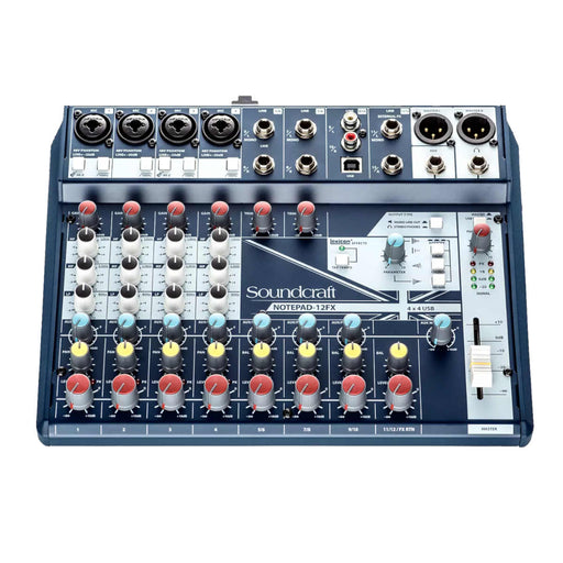 Soundcraft Notepad-12FX Small-format Analog Mixing Console with USB I/O and Lexicon Effects - Ooberpad India