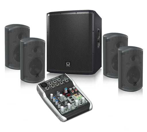 Turbosound iP12B + TCI52T + Behringer Q502USB Sound System Package
