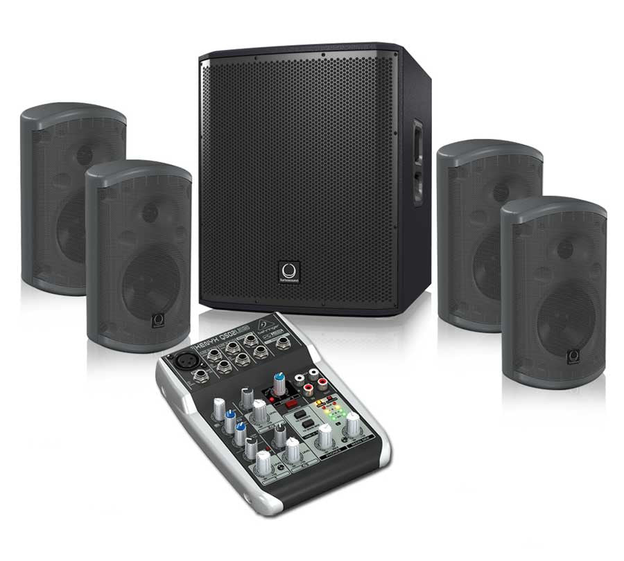 Turbosound iP12B + TCI52T + Behringer Q502USB Sound System Package -  Ooberpad
