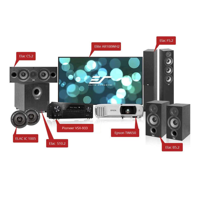 Home Theater Solution with Pioneer VSX-933 7.2-Ch AV Receiver for 150-200 sq ft room -  Ooberpad