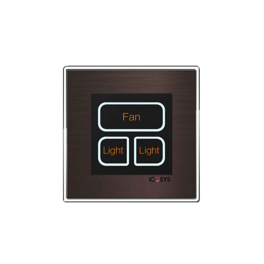 ICOSYS 3 Gang Wall Switch -  Ooberpad