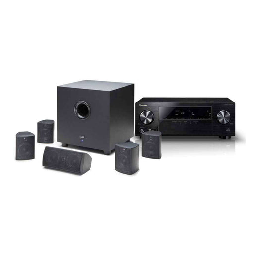Elac Cinema 5 SET 5.1 Channel Speakers + Pioneer VSX-330-K 5.1 Ch Ultra HD AV Receiver -  Ooberpad