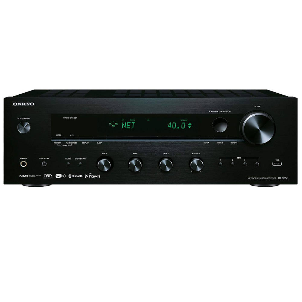 Onkyo TX-8250 Network Stereo Receiver -  Front View