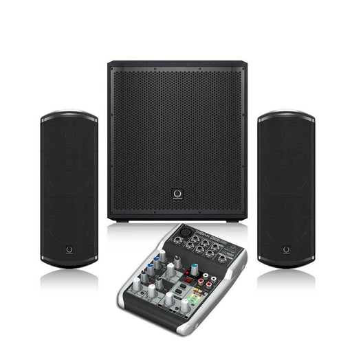 Turbosound iP 12B + TCI53T + Behringer Q502USB Sound System Package -  Ooberpad