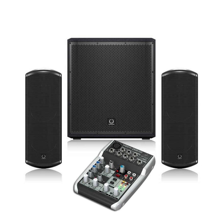 Turbosound iP 12B + TCI53T + Behringer Q502USB Sound System Package