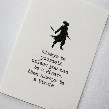 CARD | BE A PIRATE