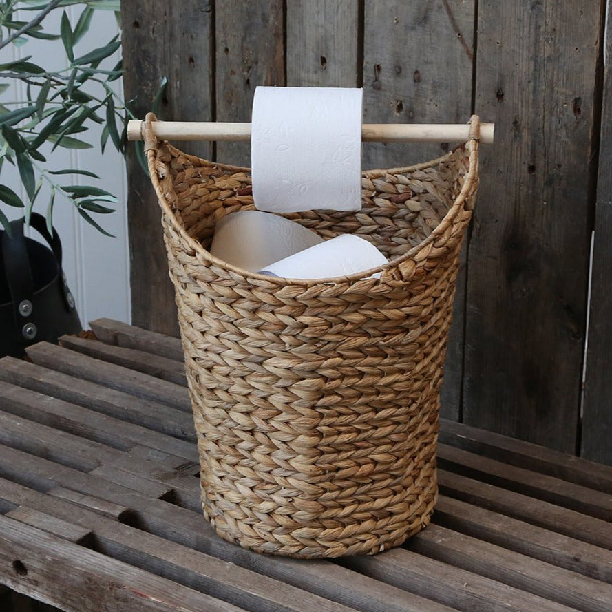 BASKET WITH TOILET ROLL HOLDER
