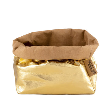 UASHMAMA PAPER BAG LARGE METALLIC