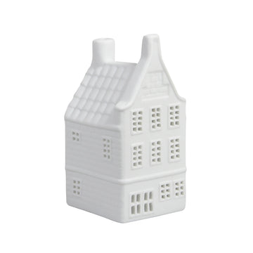 WHITE CANAL HOUSE TEALIGHT HOLDER | GABLE