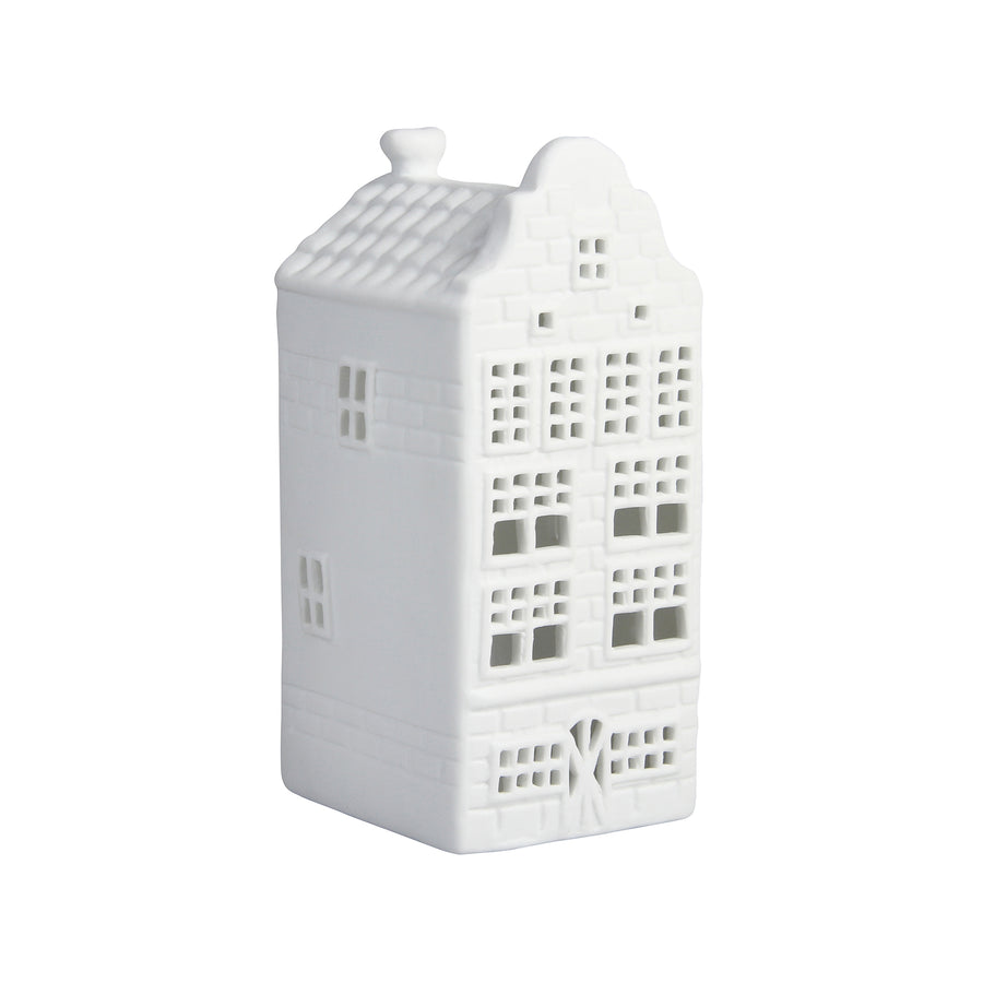 WHITE CANAL HOUSE TEALIGHT HOLDER | WAREHOUSE GABLE