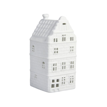 WHITE CANAL HOUSE TEALIGHT HOLDER | GOLF GABLE