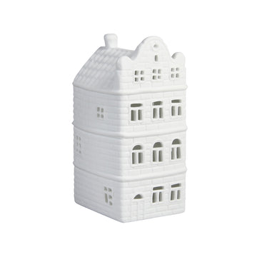 WHITE CANAL HOUSE TEALIGHT HOLDER | SCRAG GABLE