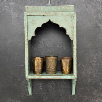 SINGLE TOPI SHELF PAINTED GREY|GREEN
