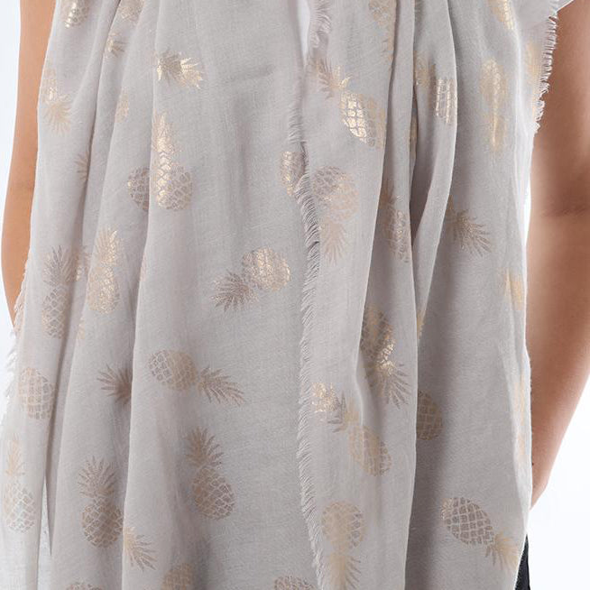 GOLD FOIL PINEAPPLE SCARF