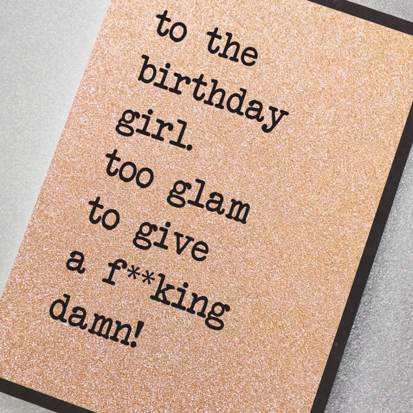 CARD | TOO GLAM