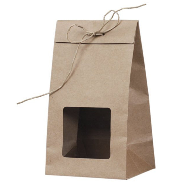 KRAFT GIFT BAG WITH WINDOW