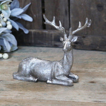 ANTIQUE SILVER DEER | LAYING