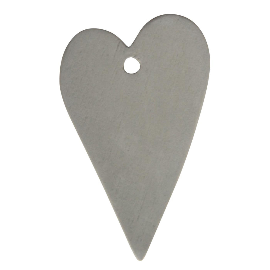 GREY HEART TAG