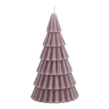 MEDIUM PINK SCANDI GEOMETRIC CHRISTMAS TREE CANDLE