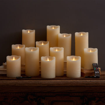 DAZZLER WAX BATTERY FLICKERING CANDLE
