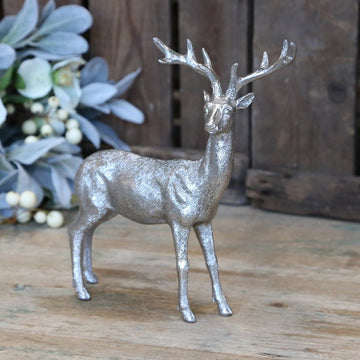 ANTIQUE SILVER DEER | STANDING