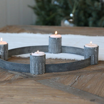 ZINC ADVENT TEALIGHT CANDLEHOLDER