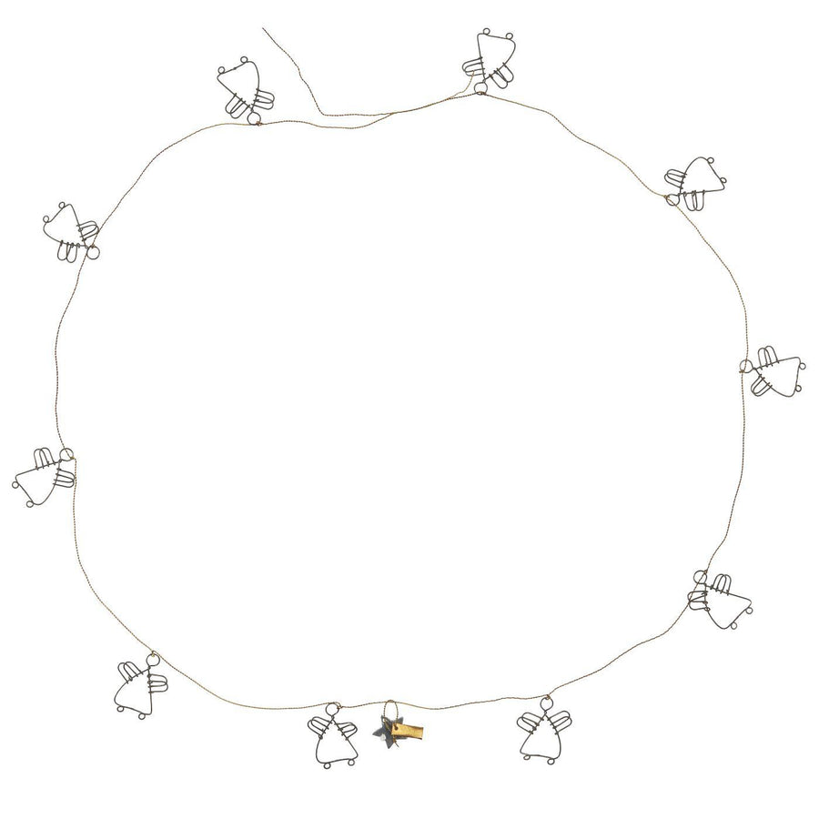 WIRE GARLAND WITH 10 ANGELS