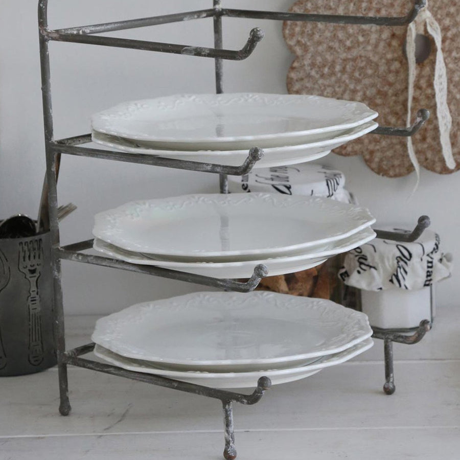 PLATE RACK | ANTIQUE GREY