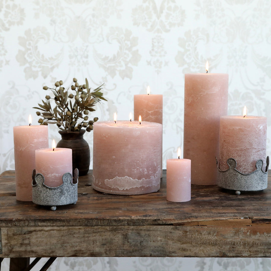 RUSTIC 3 WICK CANDLE | DUSTY ROSE