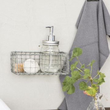 SMALL RECTANGLULAR WIRE STORAGE BASKET