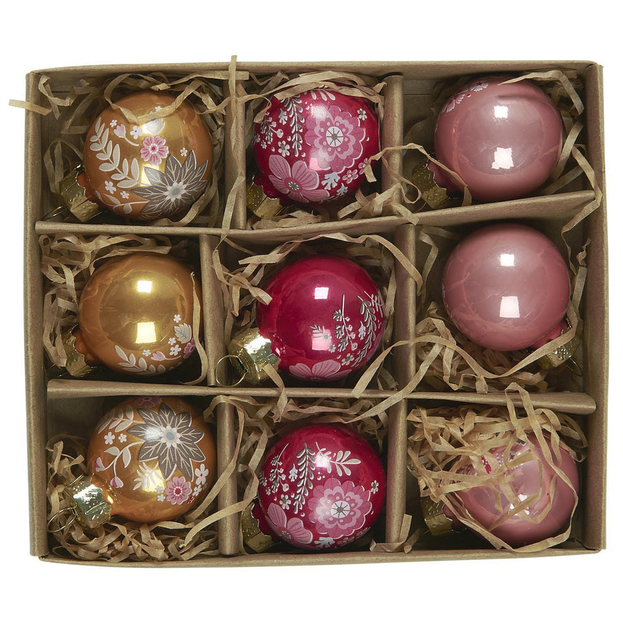 BOX 9 PINK ORNAMENTS