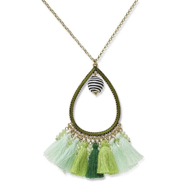 OMBRE TASSELED NECKLACE