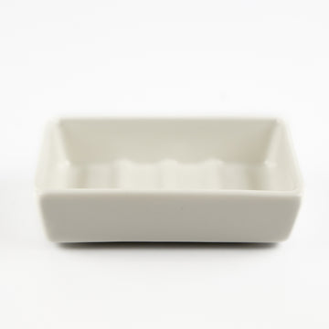 WHITE PORCELAIN CERAMIC SOAP DISH