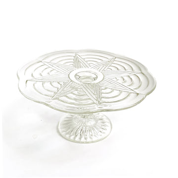VINTAGE GLASS CAKESTAND | CLEAR