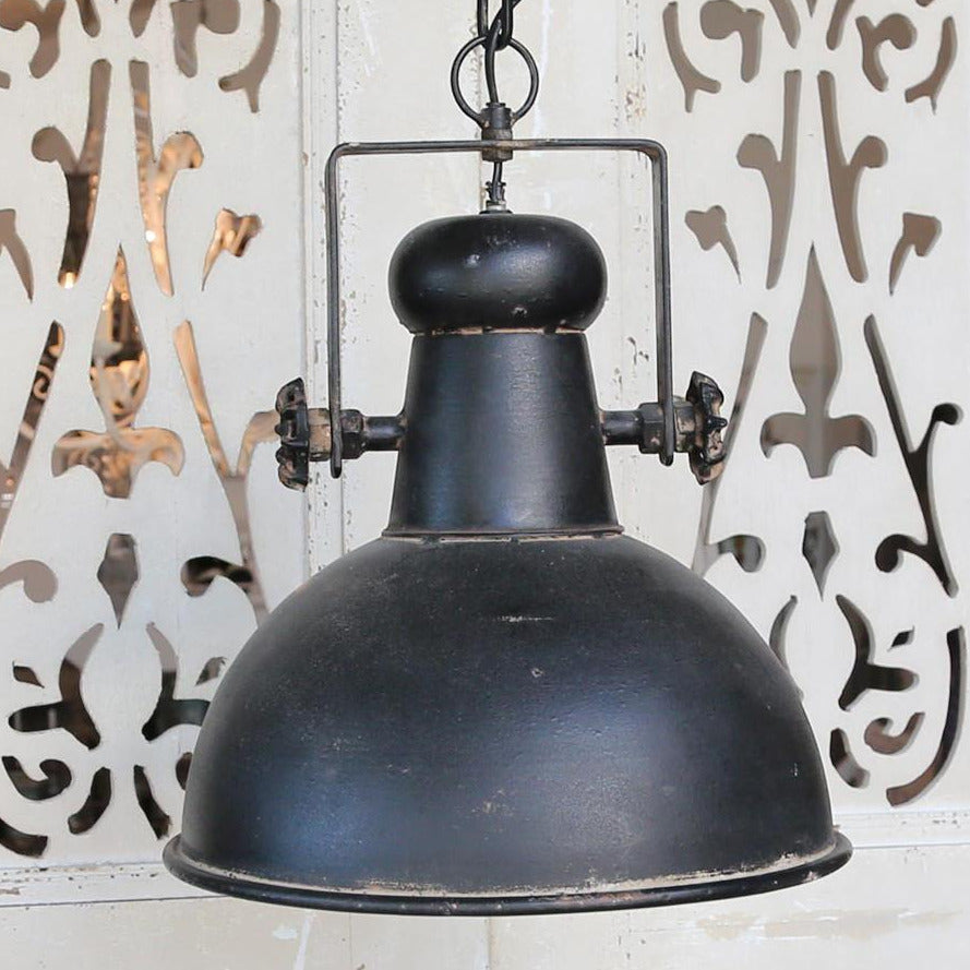 FACTORY CEILING LAMP | ANTIQUE BLACK