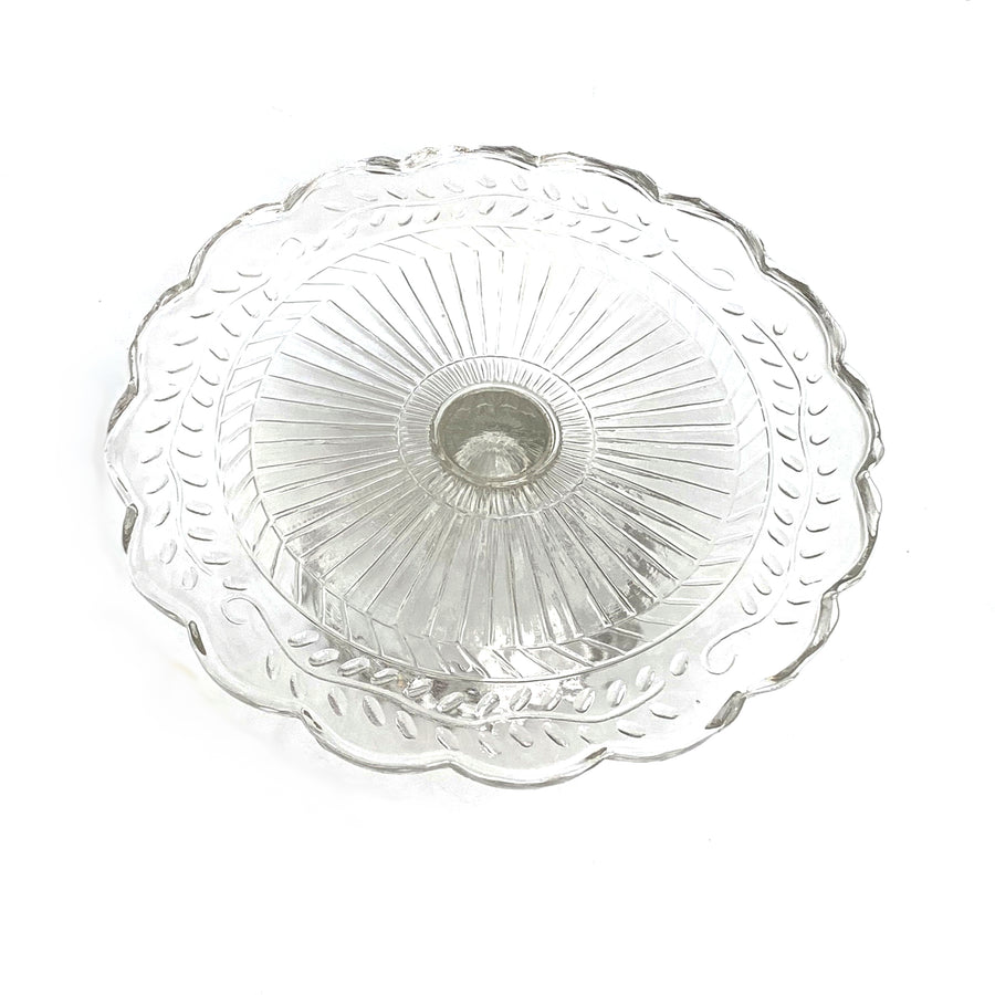 PRESSED GLASS GLASS CAKESTAND