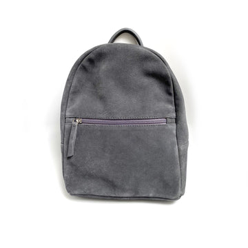 GREY SUEDE BACKPACK