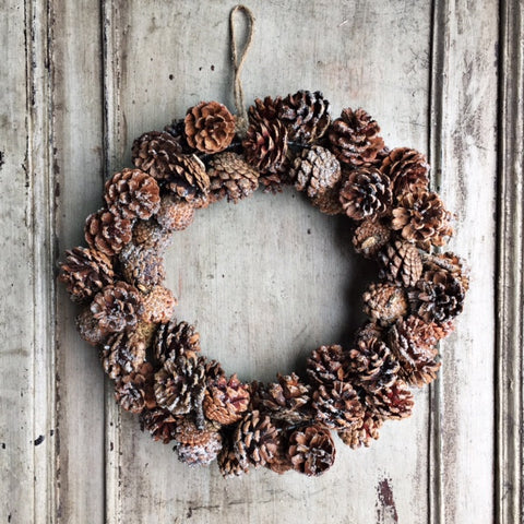 OPEN PINECONE WREATH
