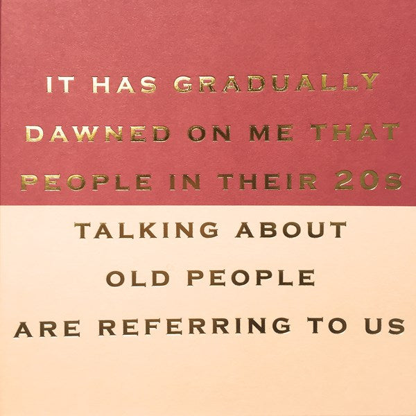 CARD | PEOPLE IN THEIR TWENTIES